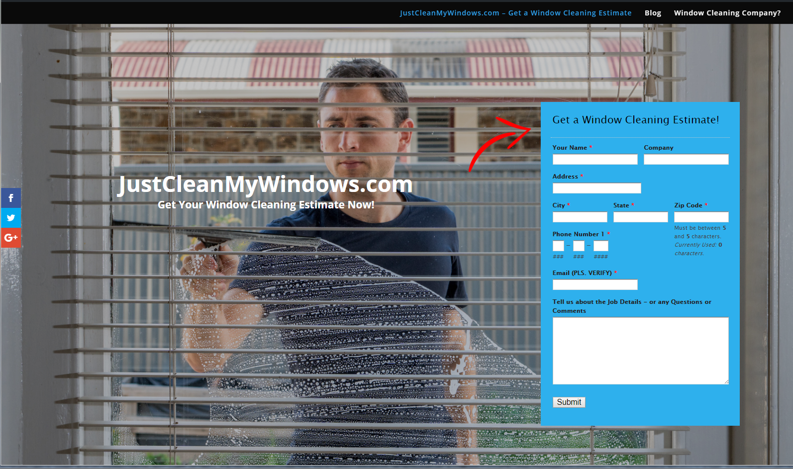 Get a window cleaning estimate today for Window estimate